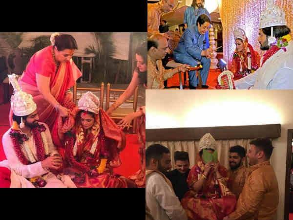 WEDDING PICTURES! Riya Sen Gets Married To BF Shivam Tewari; Looks Resplendent As A Bengali Bride