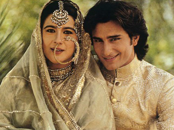 ROFL! Wedding Picture of Saif Ali Khan & Amrita Singh Becomes The Butt Of Jokes On Twitter!