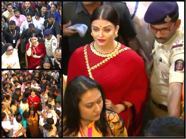Aishwarya Rai looks DIVINE while offering prayers at Lalbaugcha Raja