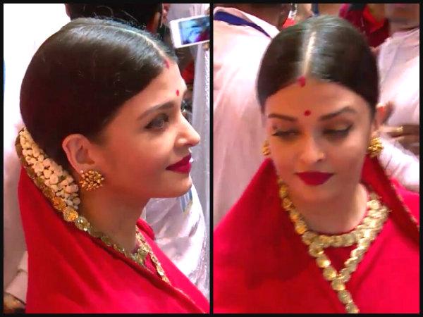 Aishwarya Rai looks DIVINE while offering prayers at Lalbaugcha Raja