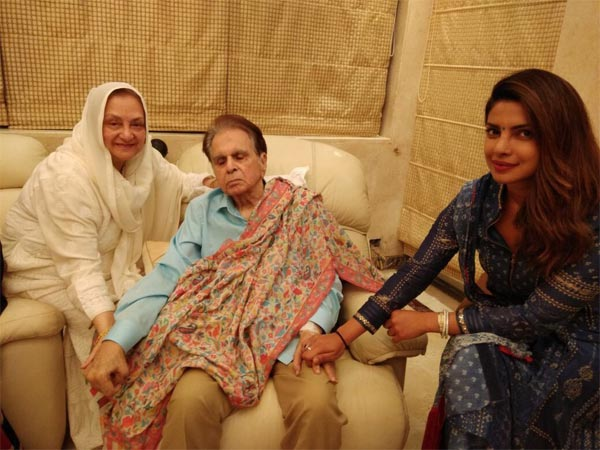 Priyanka Chopra spends time with Dilip Kumar, Saira Banu