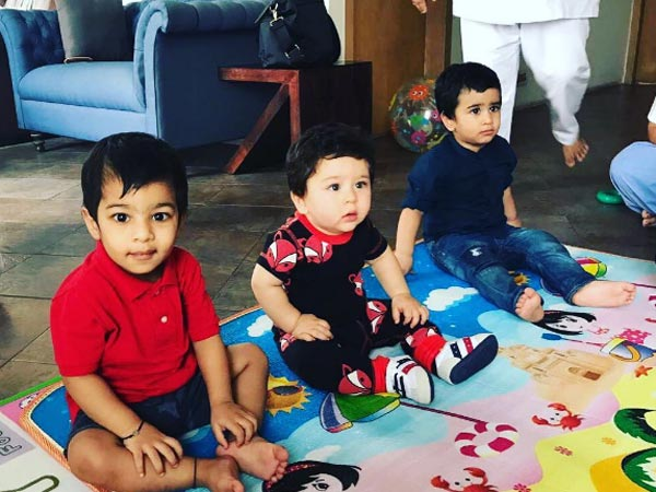 Taimur Ali Khan enjoys play date with Tusshar Kapoor's son Laksshya Kapoor