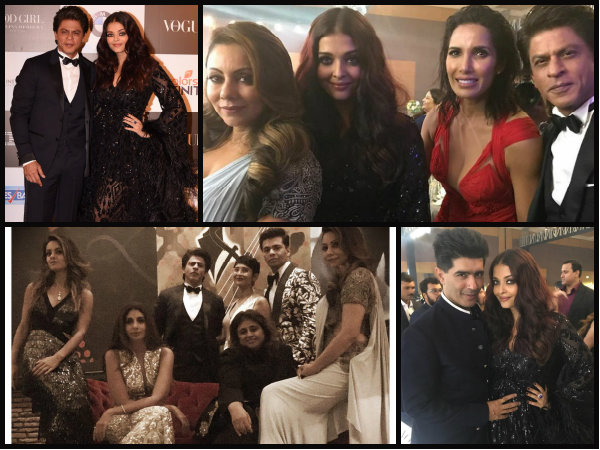 WE'RE DEAD! Aishwarya Rai Bachchan, Shahrukh Khan & Gauri BOND At The Vogue Women Of The Year Awards