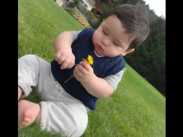 HE'S A CURIOUS KID! This New Picture Of Kareena's Baby Boy Taimur Ali Khan Is All Things Cute