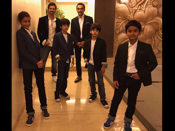 Boys Will Be Boys! Hrithik Roshan's Kids Disrupt A Group Photo