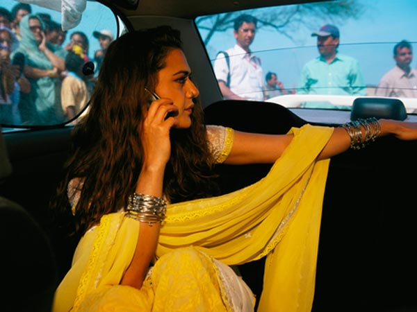 Preity Busy On A Call