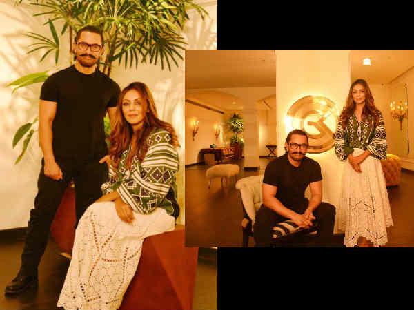A SECRET SUPERSTAR IN THE HOUSE! Aamir Khan Visits Gauri Khan's New Store [PICS]