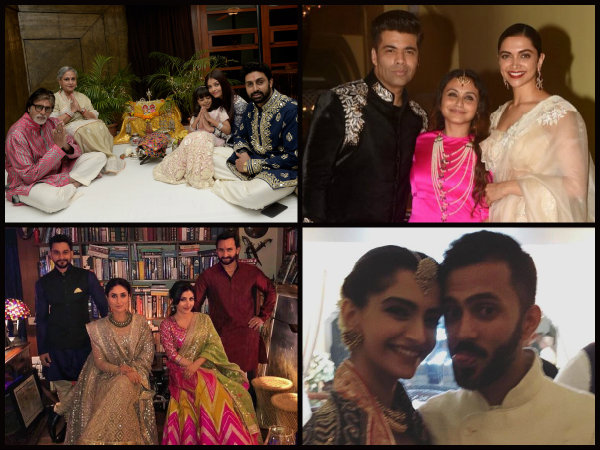 DIWALI PICS! Aishwarya Rai Bachchan, Rani Mukerji, Deepika Padukone & Kareena Kapoor Khan Turn Heads