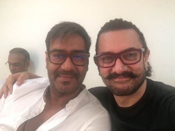 WOW! This Photo Of Ajay Devgn & Aamir Khan Hanging Out Together Will Take You Back To 'Ishq' Days