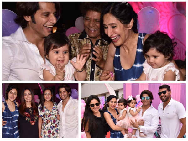 Shabbir Ahluwalia, Surbhi Chandna, Mouni Roy & Others Attend Karanvir-Teejay's Twins' B'day Bash