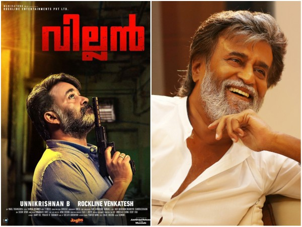 WOW! Rajinikanth Is Eager To Watch Mohanlal's Villain!