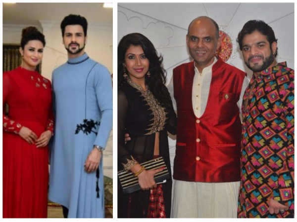 Divyanka-Vivek, Karan-Ankita, Aly, Krishna Mukherjee & Others Attend Sandeep Sikand's Diwali Bash