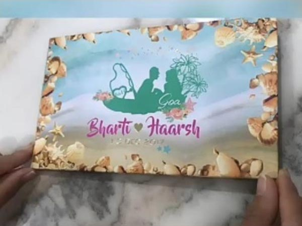 Bharti-Harsh's Wedding Card