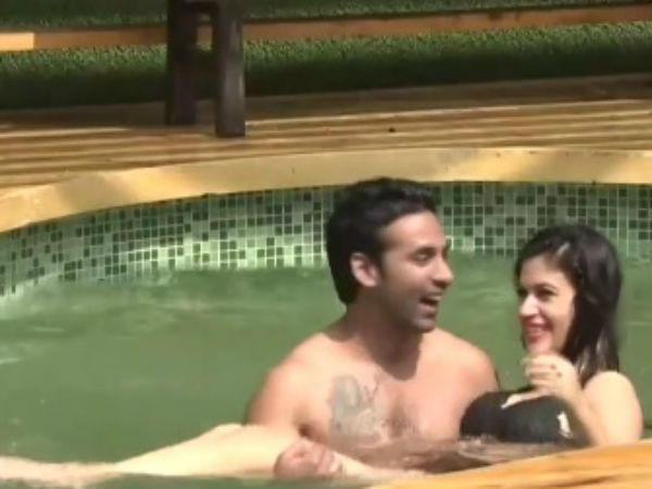 Bandgi & Puneesh's Pool Romance!
