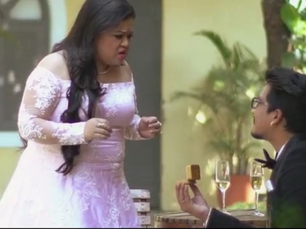 Harsh Proposes Bharti With A Gulab Jamun!
