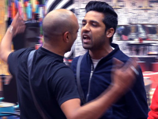 Akash-Puneesh Get Into An Ugly Spat; Puneesh Throws Slippers At Akash