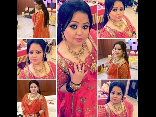 Bharti Looked Beautiful In the Red Outfit