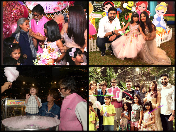 NEW INSIDE PICTURES! Aaradhya Feeds Cake To Jaya Bachchan, Aishwarya Rai Bachchan & Big B Smile On!