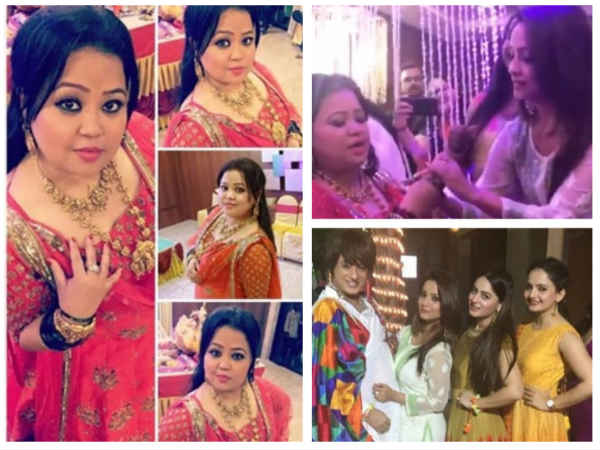<strong>INSIDE PICTURES: Adaa Khan, Anita Hassanandani, Mahi & Others Attend Bharti Singh's Bangle Ceremony</strong>