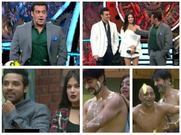 BB 11: Salman Calls Akash, A Fool; Warns Bandgi-Puneesh; Sunny Makes Arshi Apply Butter On Hiten!