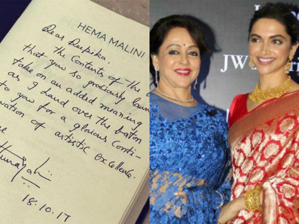 Hema Malini Hands Over The Baton To Deepika Padukone With A Heartfelt Message!