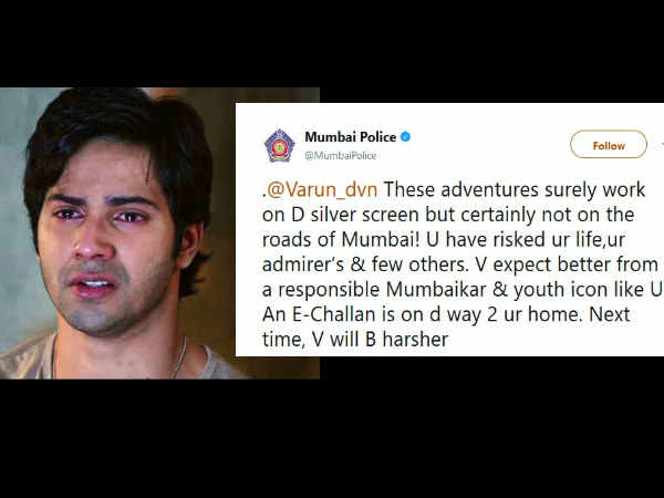 E-Challan On The Way! Mumbai Cops SCOLD Varun Dhawan For His 'Dangerous' Selfie, Actor Apologizes