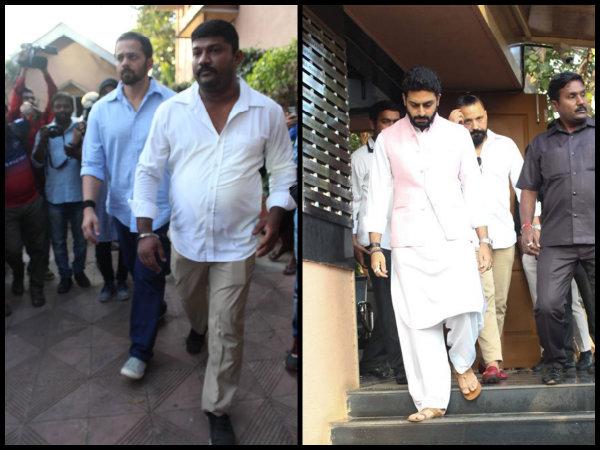 Rohit Shetty, Abhishek Bachchan Attend Neeraj Vora's Funeral