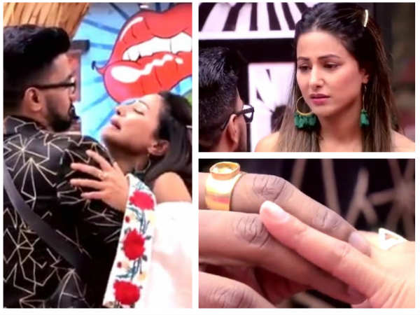 Bigg Boss 11: LOVE IS IN THE AIR! Hina Khan Has An Emotional Breakdown As Rocky PROPOSES Her!