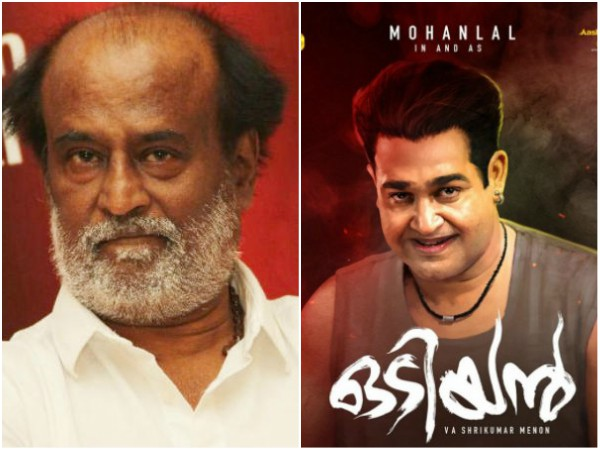 Superstar Rajinikanth Praises Mohanlal For His Astonishing Transformation For Odiyan!