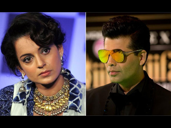 Nepotism war ends? Karan and Kangana to judge reality show together