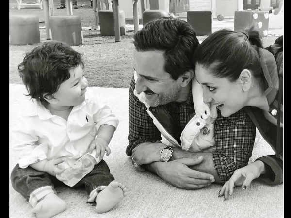 Saif- Kareena Just Can't Stop Lovingly Gazing At The Cutie-Pie