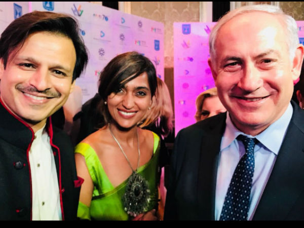 Vivek With His Wife & Israel's PM