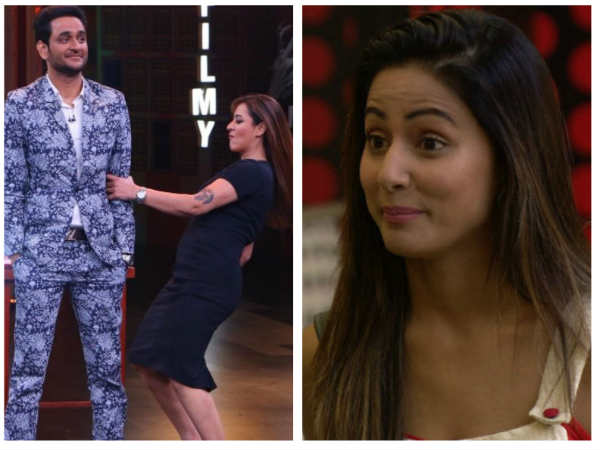 VIRAL PIC: Bigg Boss 11's Shilpa Shinde Does A POLE DANCE With Vikas Gupta; Hina Khan To Be Roasted!