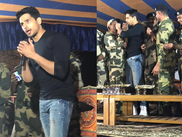 Team Aiyaary Celebrates Sidharth Malhotra's Birthday With Jawans
