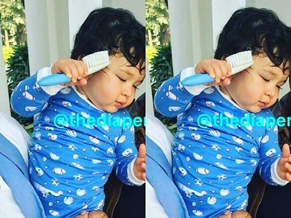 Bundle Of Joy! Taimur Tries To Comb His Hair & The Picture Looks So Cute