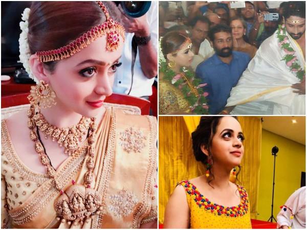 IN PICS! Bhavana & Naveen Tie The Knot!