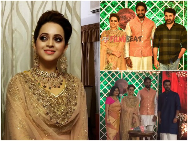 IN PICS! Bhavana-Naveen Wedding Reception: Mollywood Stars Attend The Big Event!