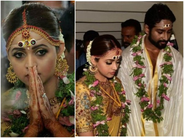 Bhavana-Naveen Wedding: Mollywood Celebrities Wish The Newly-weds!