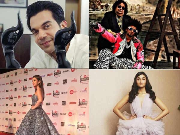 Inside PhotosFrom Filmfare Awards 2018! Rajkummar Rao Wins Big, Ranveer Singh's Crazy Antics