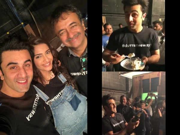 Dutt Biopic: Ranbir Kapoor- Sonam Kapoor's Reunion On The Last Day Of Shoot; Don't Miss Inside Pics!