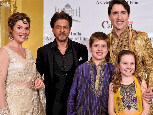 Justin Tradeau Meets Shahrukh Khan Aamir Farhan Akhtar In India
