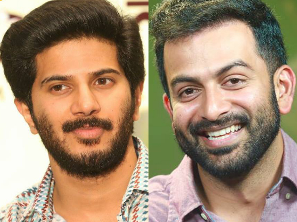 Prithviraj In A Tie With Dulquer Salmaan