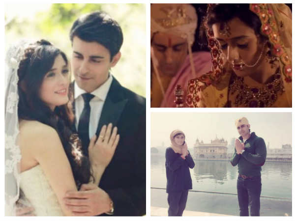 Gautam Rode Pankhuri Awasthy New Wedding Vids Pics Cant Take Eyes Off Newlywed Visit Golden Temple