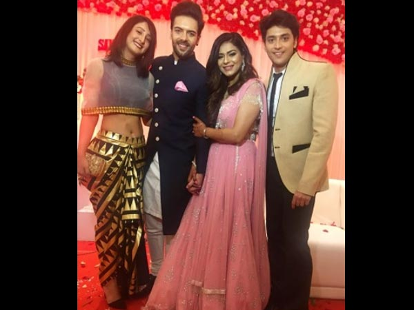 Shivya Pathania Attends PooNjay's Engagement