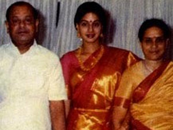 Sridevi With Her Parents