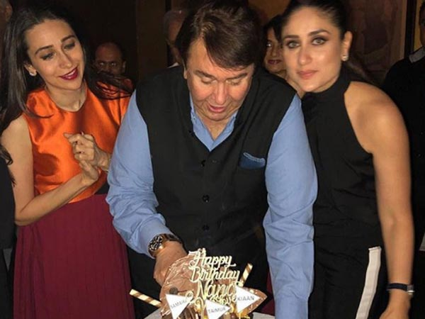 Randhir Kapoor Celebrates His Birthday With His Daughters Kareena Kapoor & Karisma Kapoor! Pictures