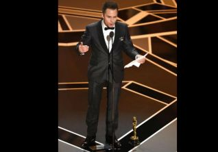 Oscars 2018 Sam Rockwell Wins Best Supporting Actor For Three Billboards Outside Ebbing Missouri