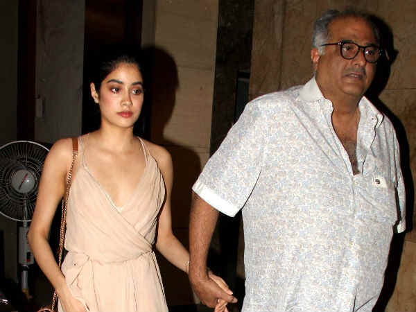 Papa Boney Kapoor Is Proud Of Janhvi