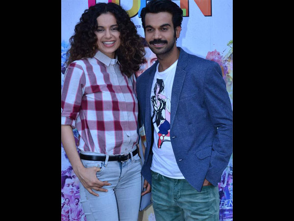 Kangana Doesn't Want Rajkummar To Steal Away Her Limelight