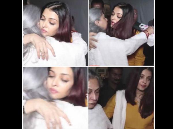 Aishwarya & Jaya Snapped Sharing A Hug
